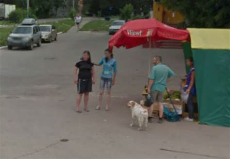 google maps street view women caught  angry fight