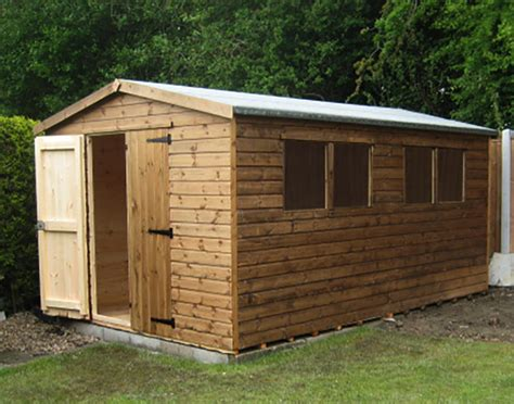 Heavy Duty Garden Sheds by Derbyshire Fencing Manufacture And Paving Supplies