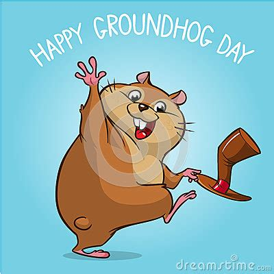 groundhog day instrumental vector happy groundhog groundhog day design with