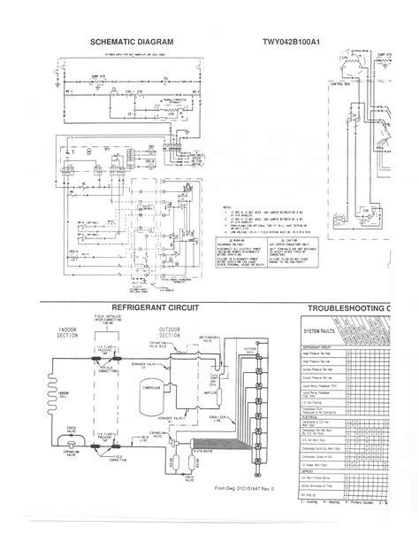 trane condensing unit wiring diagram wiring diagrams