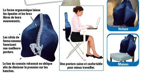 coussin pour mal de dos coussin pour dos bleu fonc 233 shop trendmail