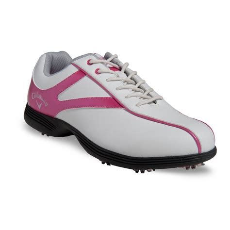 callaway novas golf shoes womens whitepink  intheholegolfcom