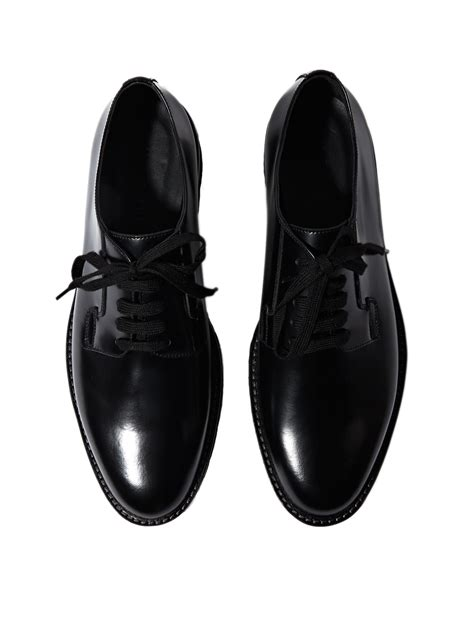 marni mens domesticated calf leather shoes in black for
