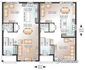 d 233 tail du plan de maison multi logements w3058