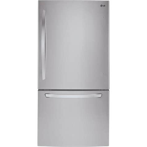 Freezer Lg shop lg 22 1 cu ft bottom freezer refrigerator with maker stainless steel energy at