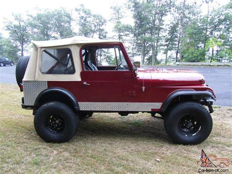 amc jeep cj7 1984 amc jeep cj7 304 v8 lockers gears lift more
