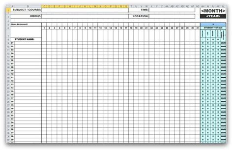 Excel Attendance Template monthly attendance templates in ms excel