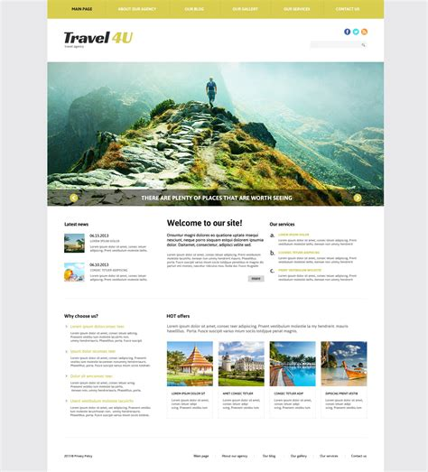 travel bureau joomla template 46640