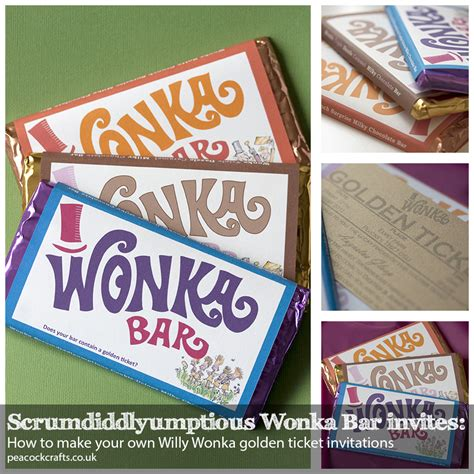 willy wonka invitations templates scrumdiddlyumptious wonka bar invites how to make your