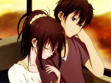 wallpaper couple in bed hyouka couple anime couples wallpapers and images