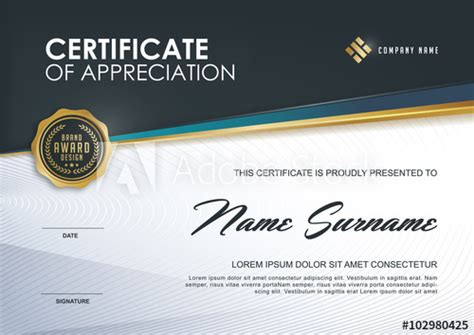 qualification certificate template certificate template with luxury and modern pattern