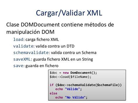 domdocument php tutorial xml 3 introducci 243 n al lenguaje php