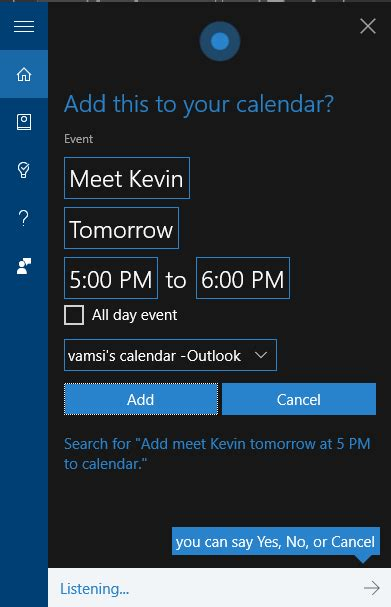 Add A Calendar Event 7 Things You Can Do With Cortana In Windows 10