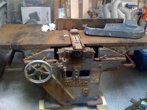 antique woodworking machinery for sale wadkin rm 26 quot jointer on top a 24x9 planner