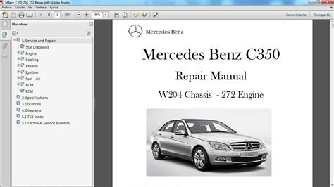 mercedes benz c350 w204 manual de taller workshop re