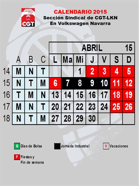 Calendario Definitivo Calendario Definitivo De Abril Y Provisional De Mayo