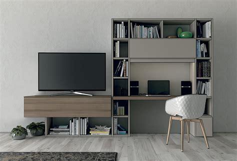 meuble tv avec bureau bureau avec biblioth 232 que int 233 gr 233 e l10a colombini casa