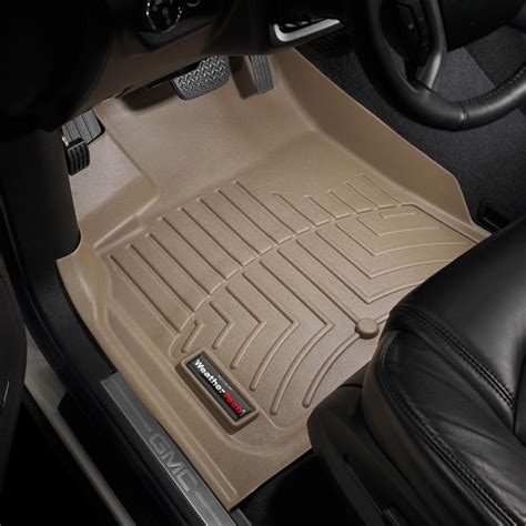 weathertech 174 452511 digitalfit 1st row tan molded floor liners