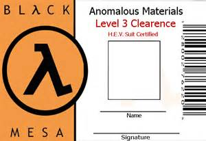 black mesa id template by wesker on deviantart