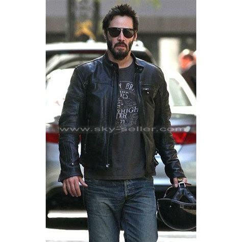 biker jacket vest keanu reeves krgt 1 black motorcycle leather jacket