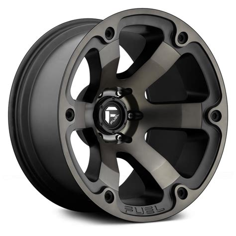 fuel wheels fuel 174 beast wheels black with machined face and double