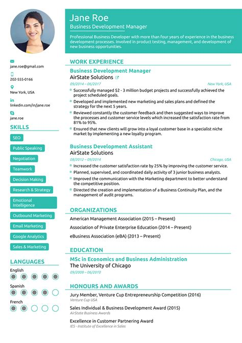 Top 5 Free Resume Templates by 2018 Professional Resume Templates As They Should Be 8