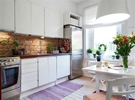 küche mit ziegel backsplash jugendzimmer ideen