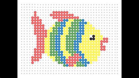 hama fish hama bead stripy fish sea series 13