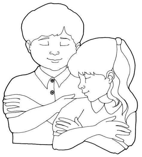 Children Praying Coloring Page Coloring Home Praying Coloring Pages
