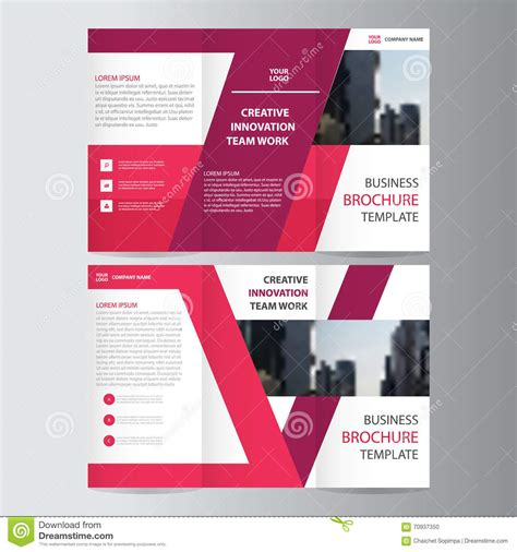 brochure flat design geometric trifold business brochure template cartoon