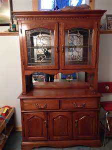 oak dining room sets with hutch images