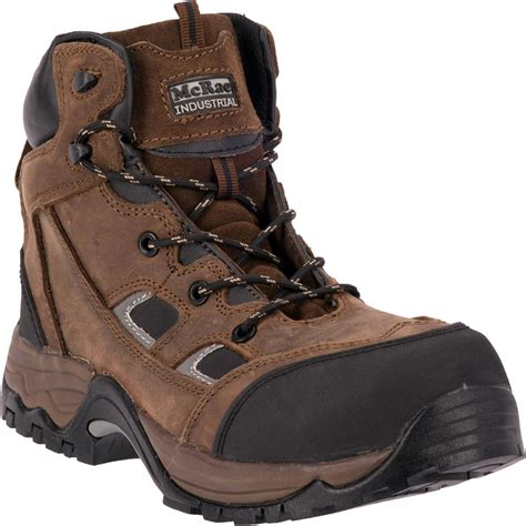 mcrae puncture proof composite toe work boots brown