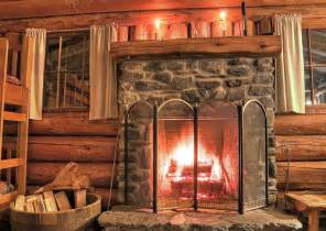 rustic log cabin fireplace flickr photo