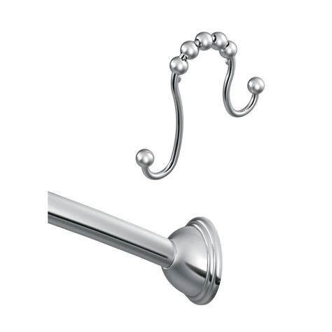 shower curtain rod curved moen 72 in adjustable curved shower rod in chrome with