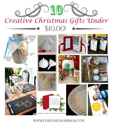 honemade christmas gifts under fifteen dollars 10 creative gifts 10 2012 everyday ideas