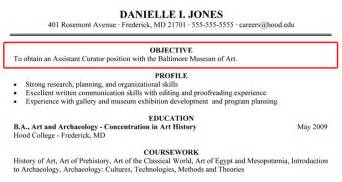 Objective Section On Resume by Writing Your Resume College