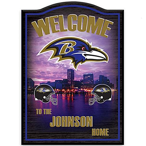 personalized wall decor baltimore ravens vintage nfl gear