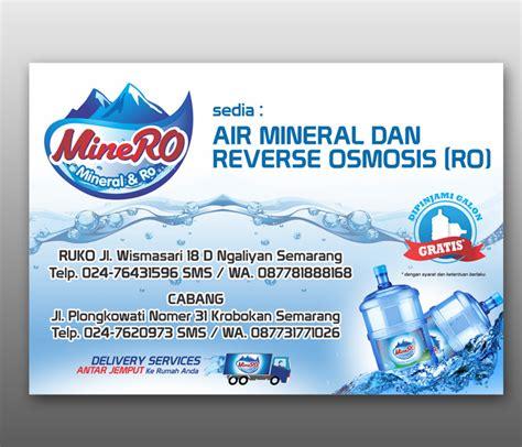 desain brosur air isi ulang sribu desain banner desain spanduk untuk depo air amdk