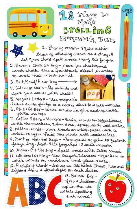 Spelling Of by 13 Ways To Make Spelling Practice Spelling