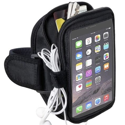 running sports armband zipper arm band phone holder for iphone xs max xr 6 7 8 plus for samsung