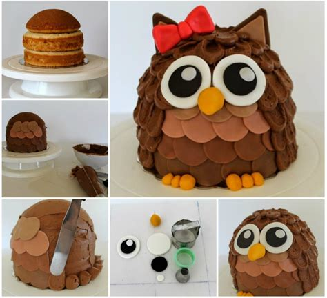 diy cake wonderful diy cute owl cake