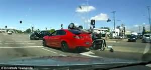 dashcam captures dramatic moment car smashes into a