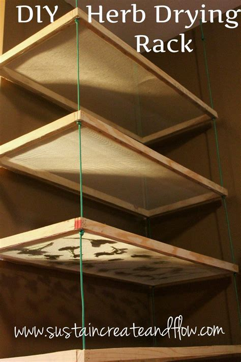 diy herb drying rack  common household materials