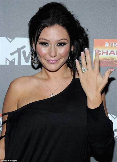 blinding bling jwoww flashes engagement ring as