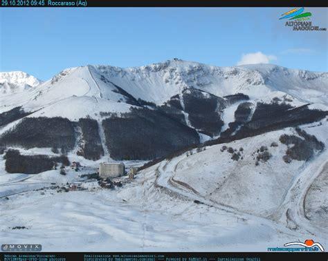 web roccaraso aremogna prima neve sulle stazioni invernali