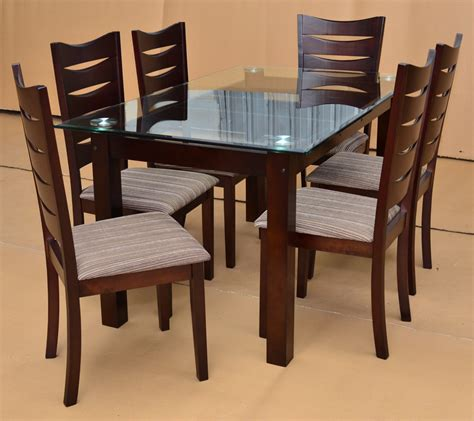 Dining Table And Chairs Designs Dining Table Designs In Wood And Glass Custom Home Design