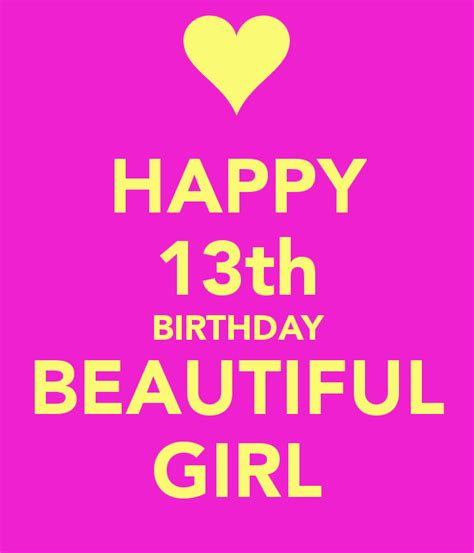 Happy 13th Birthday Quotes Happy 13th Birthday Birthdays Pinterest Happy 13th