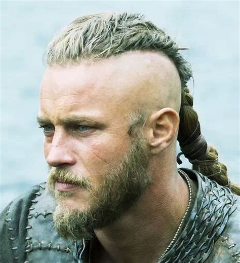 ragnar vikings braid ragnar lothbrok long hair undercut hairstyle photograph