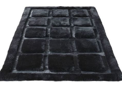 Cowhide Designer Rugs Cowhide And Shearling Designer Rug Plaza Black Ultimate