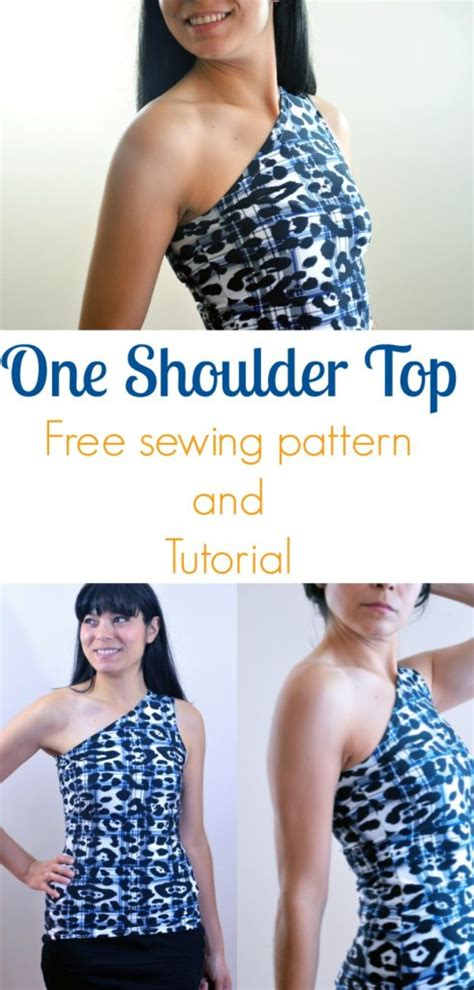free sewing patterns and tutorials on the cutting floor one shoulder top free sewing pattern on the cutting
